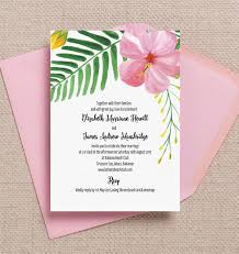 destination wedding invitation tropical flower destination wedding invitation from 1 00 each