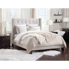 atlantic furniture hadleigh upholstered bed queen size color