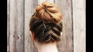 when were doughnut hairstyles inverted inverted braided bun hairstyle is perfect offbeat hairdo for