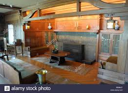 Arts And Crafts Living Room by Usa California Los Angeles Living Room Of The Gamble House In