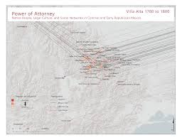 mexico map 1800 maps and visualizations power of attorney in oaxaca mexico