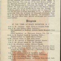 centennial celebration souvenir booklet home commemorating kings mountain