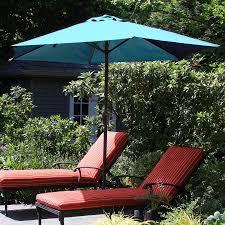 Patio Umbrella Crank Pure Garden 9 U0027 Aluminum Patio Umbrella With Auto Crank Walmart Com