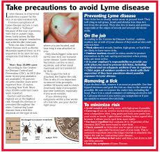 take precautions to avoid lyme disease