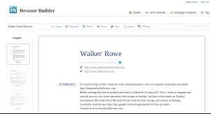 create resume from linkedin resume badak