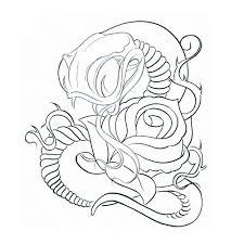 33 snake and rose tattoos