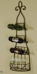 wrought iron wall wine rack tuscan towel holder towel holders