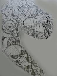 tag sleeve tattoos designs heaven and hell best design
