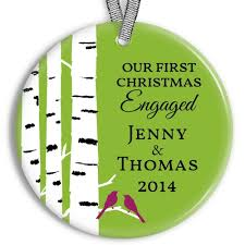 personalized ceramic engagement ornaments peachwik