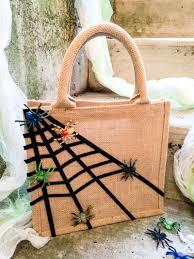 Halloween Gift Bags For Kids Easy No Sew Sticky Spiderweb Diy Halloween Treat Bag Merriment