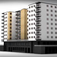 apartment building model apartment building d model max obj ds
