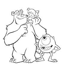 coloring page monsters inc monster inc coloring pages monsters inc coloring pages boo in