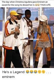 Christina Aguilera Meme - the day when christina aguilera gave eminem an award for the song he