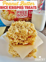 peanut butter rice krispies treats the country cook