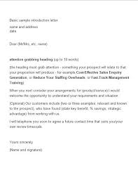 how to write a product introduction letter sample cover letter