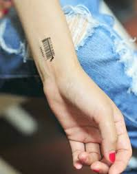 anti establishment scanner tattoos temporary barcode tattoo