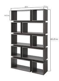 amazon com iohomes taylor modern display shelf distressed gray