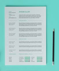 free resume template on pantone canvas gallery