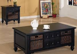 Living Room Table With Drawers Living Room Satisfactory Black End Tables For Living Room