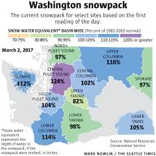 Snow Depth Map Up To 3 Feet Of Snow Could Slam Cascades Seattle Sees Coldest 3