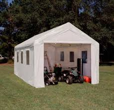 Build A Two Car Garage Tarp Building Shed