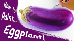 speed painting eggplant youtube