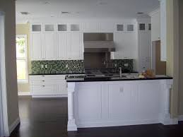White Kitchen Dark Island Stained Kitchen Cabinets With Dark Floors 35 Striking White