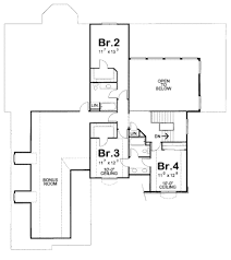 traditional style house plan 4 beds 4 00 baths 3250 sq ft plan
