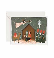 joy ornaments greeting card by rifle paper co made in usa