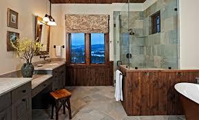 rustic bathroom ideas pictures rustic bathroom ideas with large block tiles