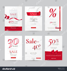 set stylish sale banners red bow stock vector 579645859 shutterstock