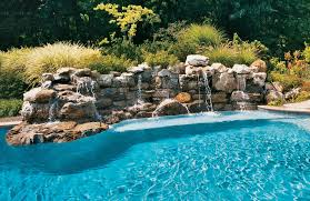 pools with waterfalls rock waterfall for pool 26