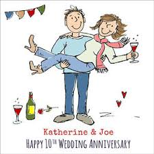 wedding anniversary card husband any name year 1st 2nd