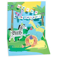 Jungle Birthday Card Jungle Pop Up Birthday Card By Up With Paper