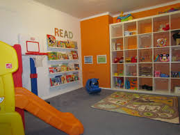 playroom idea like the book area and huge storage shelving home