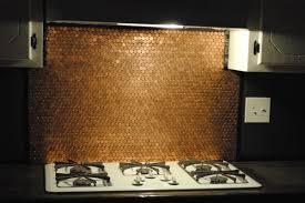 Copper Penny Tile Backsplash - mom transforms her whole kitchen using old pennies