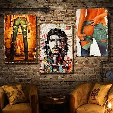 2017 vintage wood painting cafe bar ornaments creative home