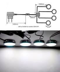 aliexpress com buy 4 pack led home kitchen under cabinet light