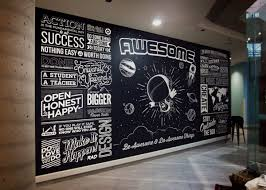 typographic wall mural guy haynie