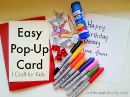 easy pop up card craft for kids crafts activities and cards