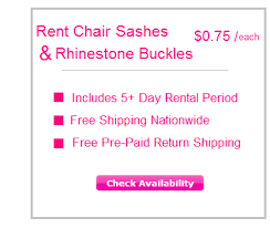 chair sash rental chair covers rentals free shipping nationwide rent my wedding