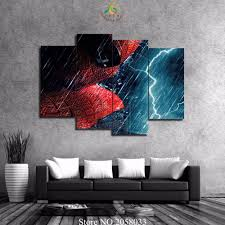 spiderman hd reviews online shopping spiderman hd reviews on 3 4 pieces set spiderman modern hd printed pictures canvas print painting wall art for wall decor home decoration artwork