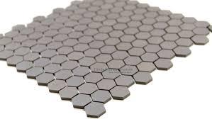hexagon matte porcelain mosaic grey tiledaily