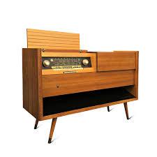 leon mid century desk mid century modern majestic stereo console by grundig urban