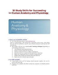 What Is Human Anatomy And Physiology 1 Study Skills For Succeeding In Human Anatomy And Physiology