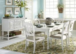 summer house oyster white rectangular leg dining room set from
