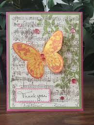 thank you card using fun stampers journey products including