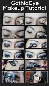 gothic eye makeup tutorial with deled steps and pictures