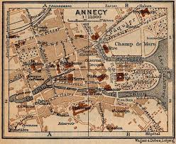 Annecy France Map by Annecy France Ancient Origins