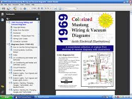 fordmanuals com 1969 colorized mustang wiring diagrams ebook